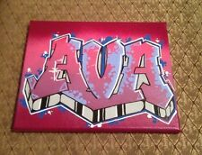 AVA graffiti art 8 x10 spray paint marker acrylic original signed