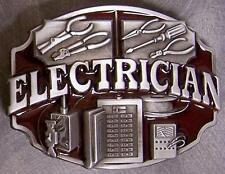 Pewter Belt Buckle Tradesman Electrician NEW