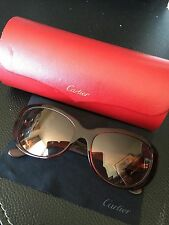 Authentic Cartier Sunglasses In brown/burgundy