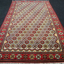 Alter Orient Teppich Ladik 222 x 144 cm Beige Kaukasus Muster Old Carpet Tappeto