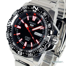 SEIKO 5 SPORTS AUTO BLACK FACE DIVERS STYLE SRP541J1 SRP541