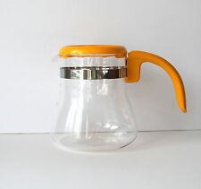 Vintage Yellow Pyrex Coffee Pot Container with Handle Glass with Plastic Mid Mod