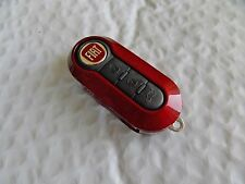 New Dark RED Case for FIAT 500 3 Button Remote Flip Key Fob  Free US Shipping