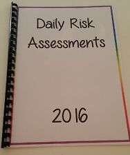 Childminder Risk Assessment RECORD BOOK- ALL AREAS OF THE HOME COVERED- PRE-MADE