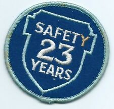 Greyhound Bus, driver patch, 23 Safety Years. 3 inch diameter.