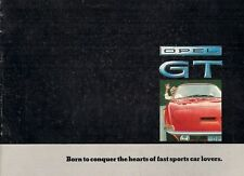 Opel GT 1968-69 UK Market Sales Brochure 1100 1900