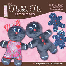 GINGERBREAD COLLECTION, Machine Embroidery CD From Pickle Pie Designs NEW