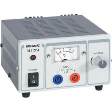 Voltcraft PS-1152A 22.5W 1.5A Single Output Variable DC Bench Power Supply PSU