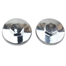 PAIR of CHROME Valve Adjustor Cap Tappet Cover Covers Oil Filler Nut Rear Drive