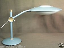 Mid Century Modern Blue/Green Dazor Desk Table Lamp Model 2008