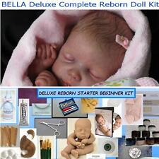 Reborn BELLA Complete Beginner Starter DELUXE Kit Lot DVD, PAINTS, BODY, MOHAIR