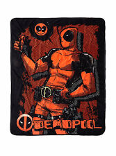 Marvel Comics Deadpool Smile Super Plush Throw Fleece Bed Blanket 48X60 NEW