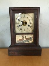 ANTIQUE SETH THOMAS 30 HOUR SHELF/MANTLE CLOCK~WOOD CASE~NO KEY~NOT WORKING