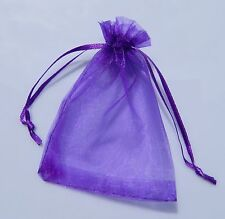 50 7x9cm Purple Organza Jewelry Pouch Wedding Party Favor Gift Bags