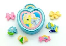 ⭐️ My Little Pony ⭐️ G1 Euro Shiny Blue Jewellery Set Complete w/6 Hair Clips!