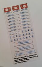 OO Scale British Rail Network SouthEast Station Signs Set (Your Choice of Name)