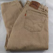 Levis Men Jeans 550 Relaxed Fit Tapered Beige Brown Khaki Orange Tab USA 34 x 34