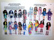 NG Creations Pattern #5 Easy to Sew over 60 Felt Outfits fit Monster High Dolls