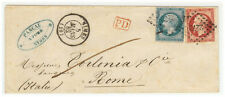 France Cover - Nap III - 1862 Nimes  to Roma (IT)