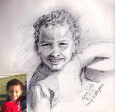 Custom portrait from your photo - pencil drawing - pastel - signed original