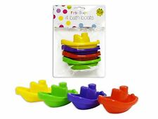 x4 BOATS FLOATING CHILDRENS KIDS BATH TUB TIME PLAY PLASTIC BOAT TOYS