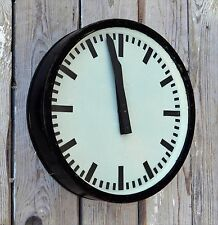 ORIGINAL 1954 German RAILROAD INDUSTRIAL FACTORY OR STATION CLOCK, Bauhaus, R27