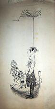 LEON POCH ORIGINAL ART SKETCH SPIDER PATORUZU MAG ARGENTINA 60's