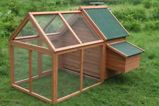 "PRO 64"" Rabbit Hutch Chicken Coop hen House Small Animal Cage w 4 Nesting Box"