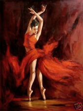 """Modern Abstract Huge Oil Painting """"Fiery Dance"""""""