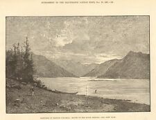 1881 BRTISH COLUMBIA MOUTH OF THE RIVER SKEENA