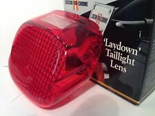 Drag Specialties Laydown Red Taillight Lens Top Window Harley Davidson 1973-1999