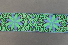 VTG 60s Ace Woodstock Bobby Lee Woven Hippie Pattern Guitar Bass Strap Fabric