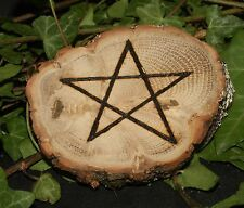 English Oak Pentagram Altar Piece  for Meditation, Strength & Courage - Pagan
