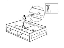 8 SCREWS 110789 FOR THE SIDE RAIL  FITS MOST BED FRAMES MALM, HEMNES, HOPEN