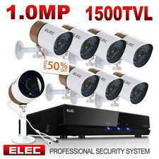 ELEC 8CH 1080P CCTV DVR 1500TVL Outdoor 960H Night Vision Security Camera System