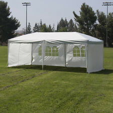 Heavy Duty Silver / White 10'x20' Canopy Pop Up Outdoor Event Tent with 4 Walls