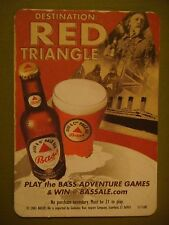 Beer Pub Bar Coaster    Bass Brewing Co POSTCARD    Destination Red Triangle