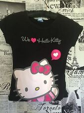 Adorable Euro Hello Kitty Black Pink and White T-shirt size Small S Mommy and Me