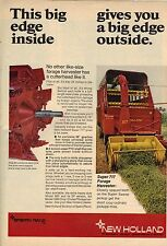 Original 1970 New Holland Forage Harvester Magazine Ad