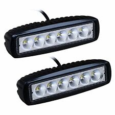 2 x  LED 18W Spot Work Lights COMPACT SHOCKPROOF  CAR VAN OFF ROAD BOAT 12V 24V