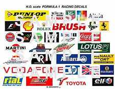 Slotcar Racing Sponsorship F-1  FORMULA ONE Decals for Retaining Walls, Etc. #1