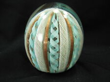 ZANFIRICO LATTICINO MURANO PAPERWEIGHT GOLD FLECKS GREAT COLORS FRATELLI TOSO?
