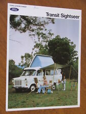 c1976 Ford Transit Sightseer original double sided single page brochure