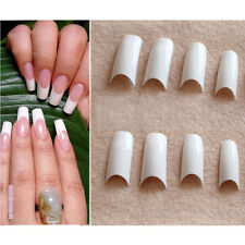 500pcs Deep Smile French Nail Tips Acrylic UV Gel Nail Art White Color Tips