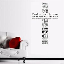 Cross Father Forgive Them Wall Decal Quotes Removable Wall Stickers Decor DIY