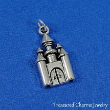 Silver ROYAL CASTLE CHARM Medieval Fantasy King Queen PENDANT *NEW*