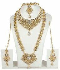 374 Indian Bollywood Style Fashion Gold Plated Bridal Jewelry Necklace Set