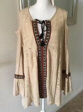 Free People Love of Flowers Tunic Size L Beige NWT Retail $168