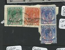 MALAYA JAPANESE OCCUPATION STRAITS (PP0604B) 2C+3C+15CX2 PIECE NAVAL BASE CANCEL