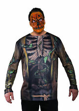 Scarecrow Shirt Evil Pumpkin Mens Adult Halloween Costume Accessory